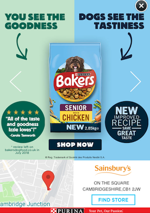 Case Study - Purina Bakers - Shopper Network - display advertisement