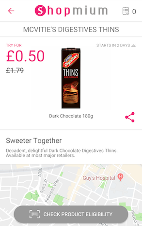 Case study - McVitie's - solution mobile app from Shopmium, a couponing app