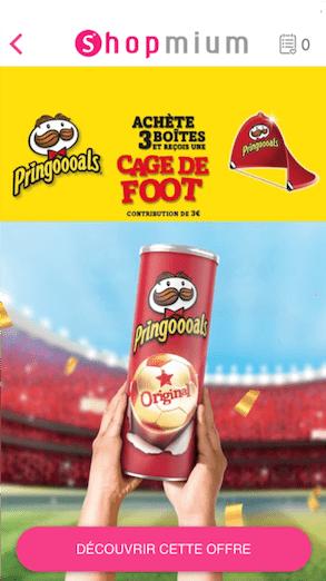 Pringles Shopmium campagne