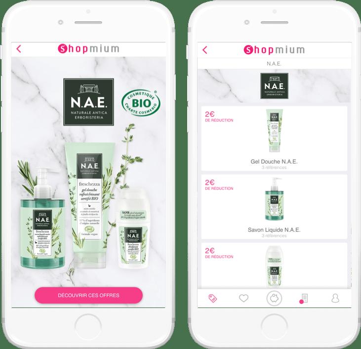NAE Shopmium campagnes
