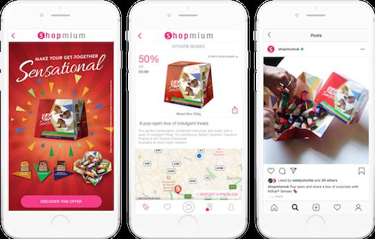 Kit Kat shopmium mobile app